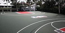 Scottie Pippen basket court