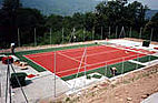 Tennis court realization stage 6